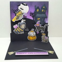 Interactive Halloween Pop Up Card