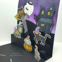 Interactive Halloween Pop Up Card