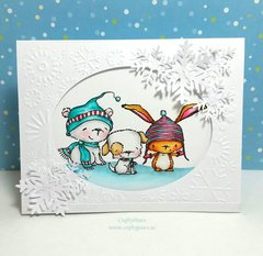 Watercolored Holiday Critter Card
