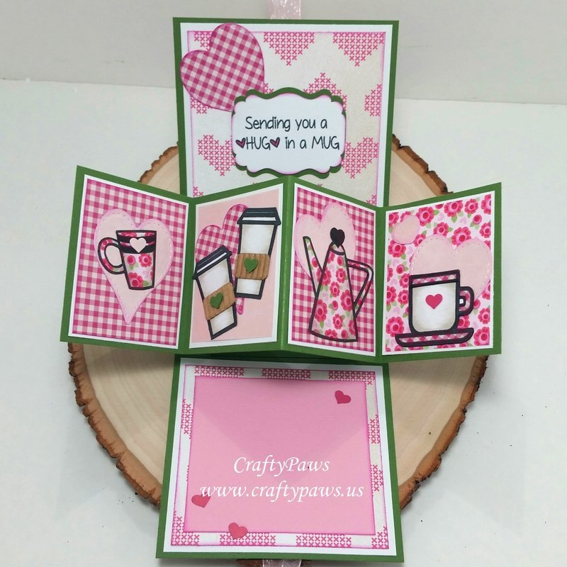 Twist Pop 3D Interactive Coffee Lovers Card