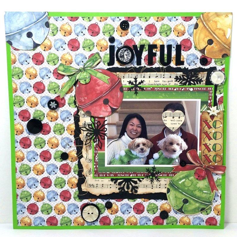 Joyful Family Christmas Layout