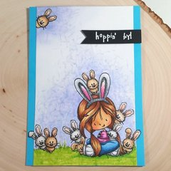 Easter/Spring Card - A Hoard of Bunnies!