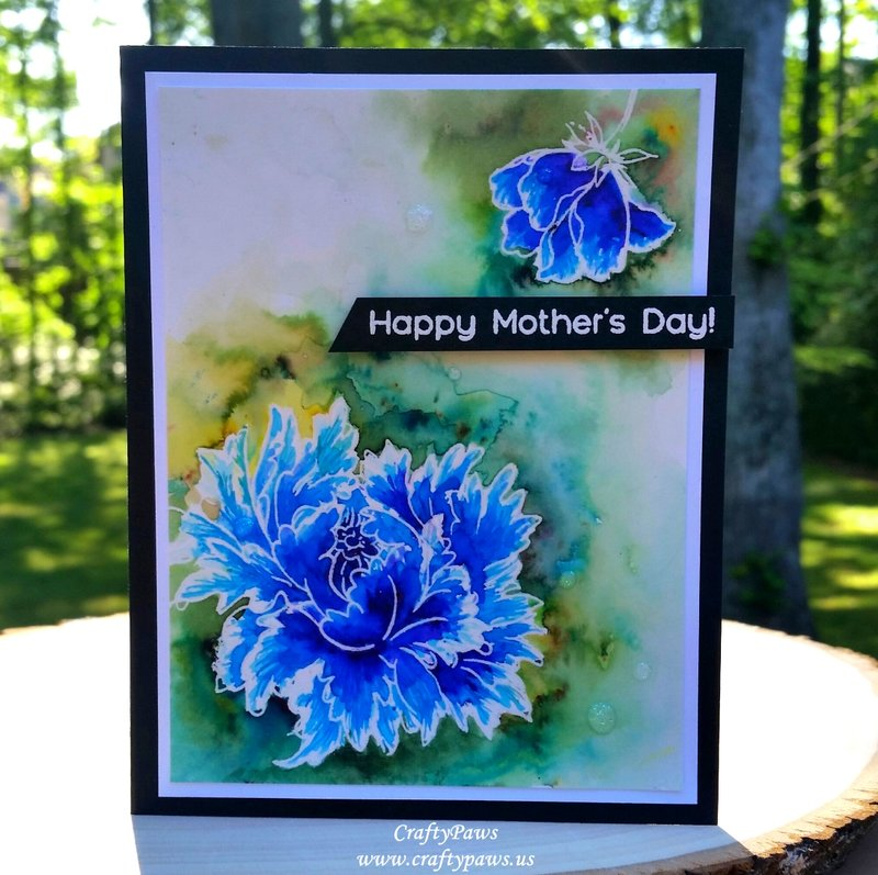 Watercolored Mothers Day Card