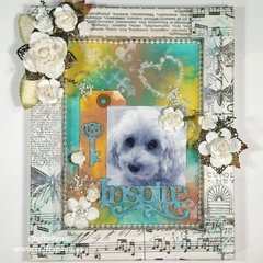 My Sweet Girl Mixed Media Shadow Box