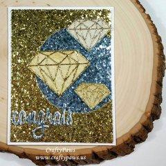 Sparkle and Shine Wedding Card