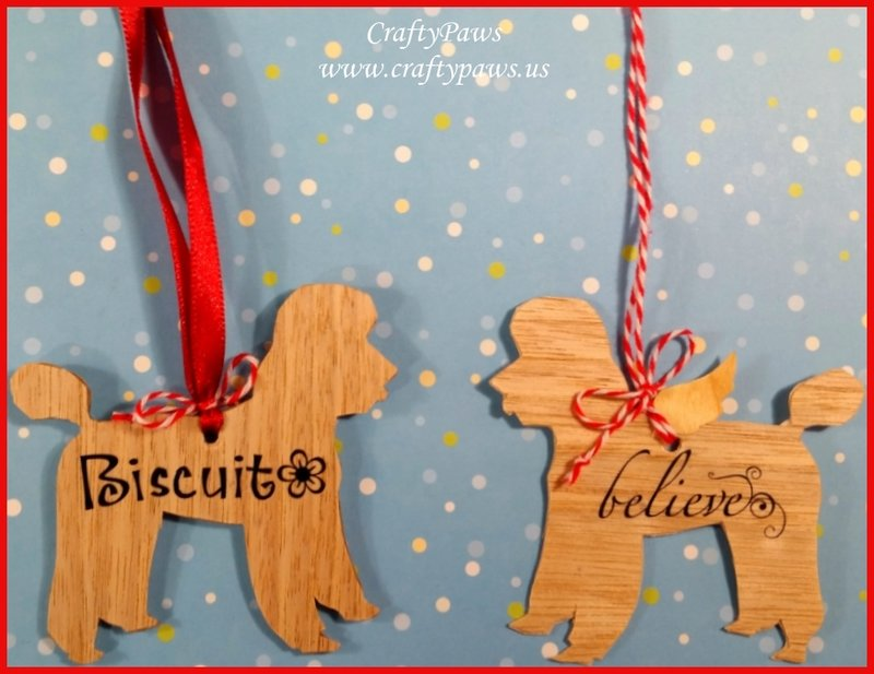 Personalized Wooden Dog Ornaments