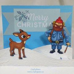 Rudolph and Yukon Cornelius Pop Up Card