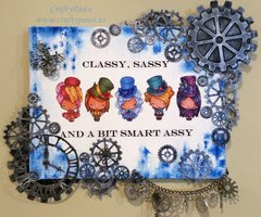 Cutsie Steampunk Altered Canvas