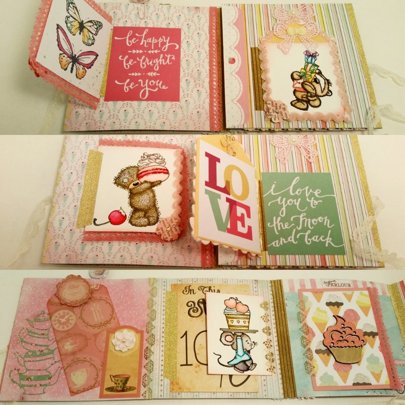 Bear Tea Party Themed Flip Book