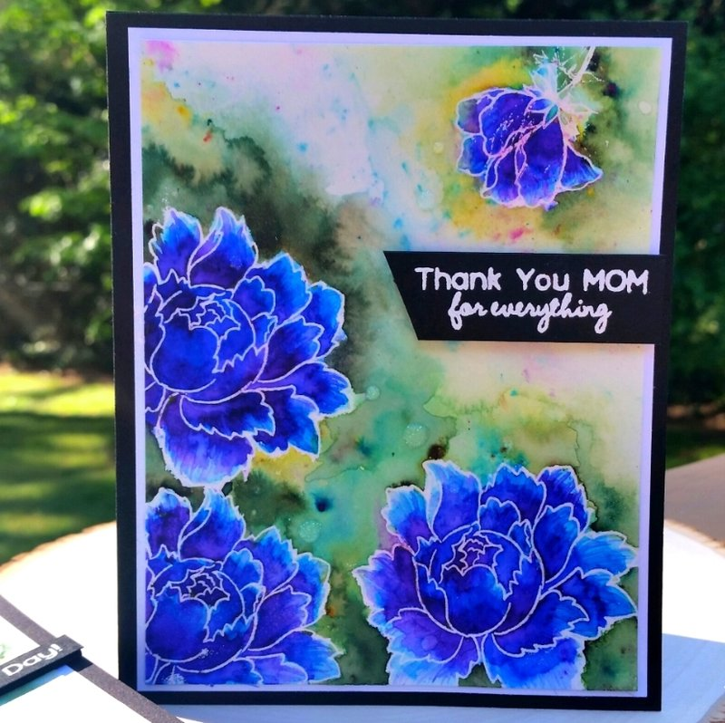 Watercolored Floral Mothers Day Card