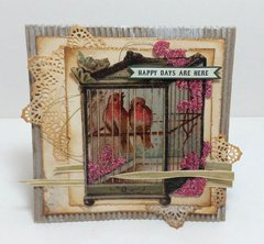 Vintage Style Spring Card