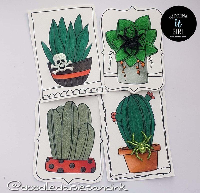 Halloween Cacti Embellishments