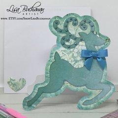 Card - Christmas - Reindeer in Blue