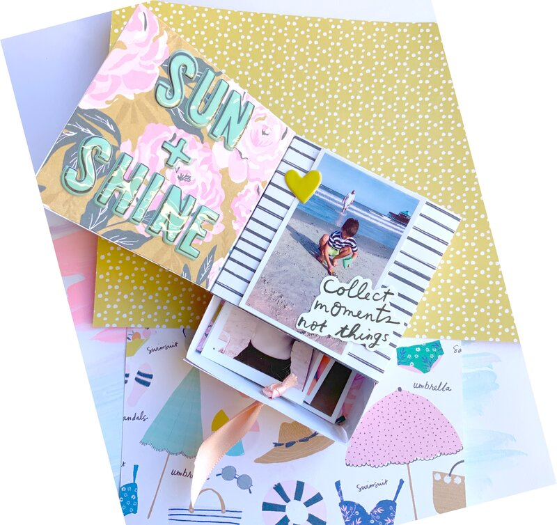 Sunny Days Mini Album with Memory box drawer