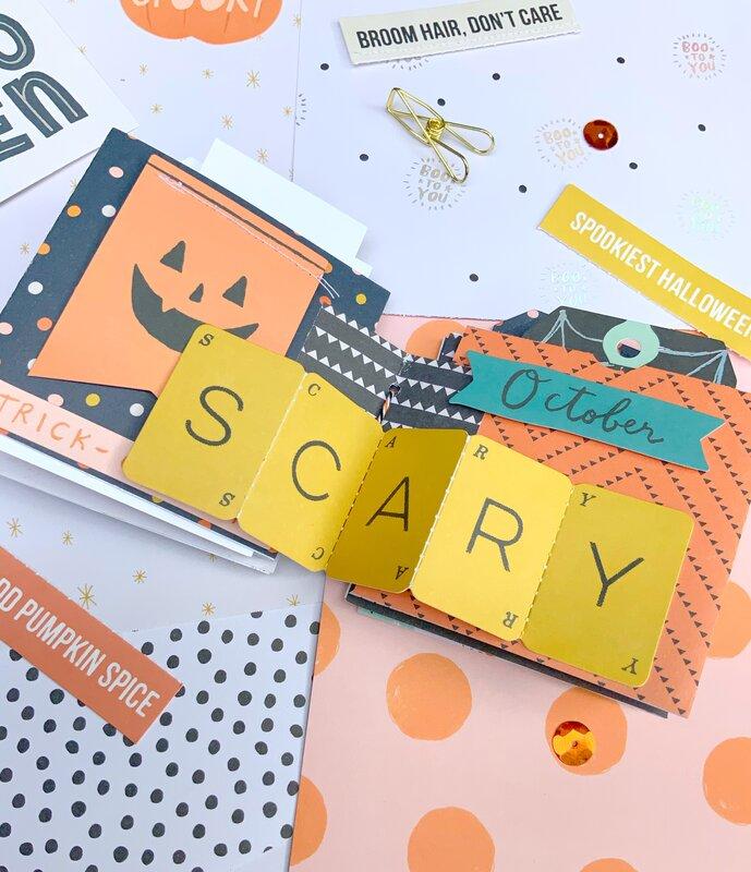 Halloween Mini Album using hey pumpkin
