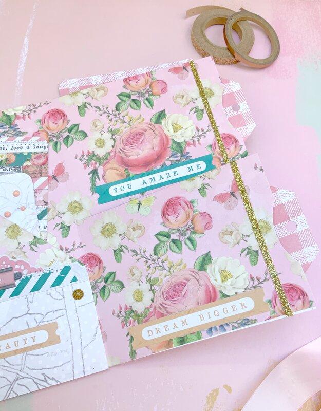 Shabby Chic Flipbook Using Simple Stories Garden