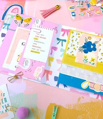 Fun flip book mini album with a2 envelope pockets