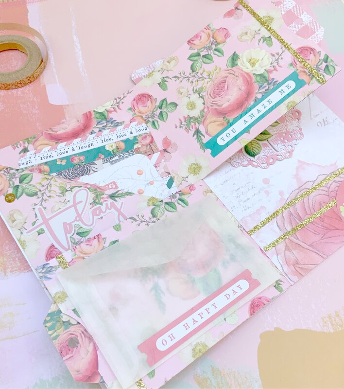 Shabby Chic Flipbook Using Simple Stories Garden
