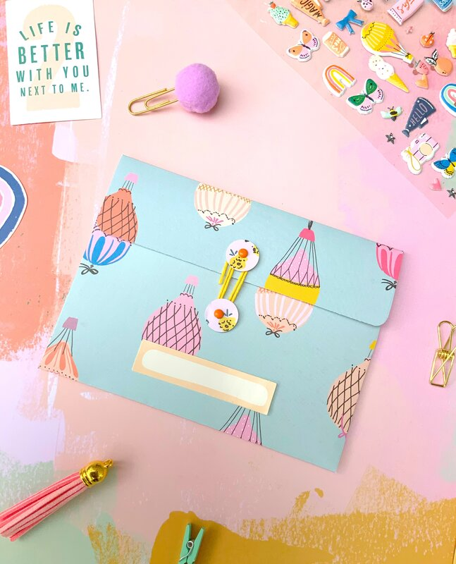 A2 Envelope for flip book insert