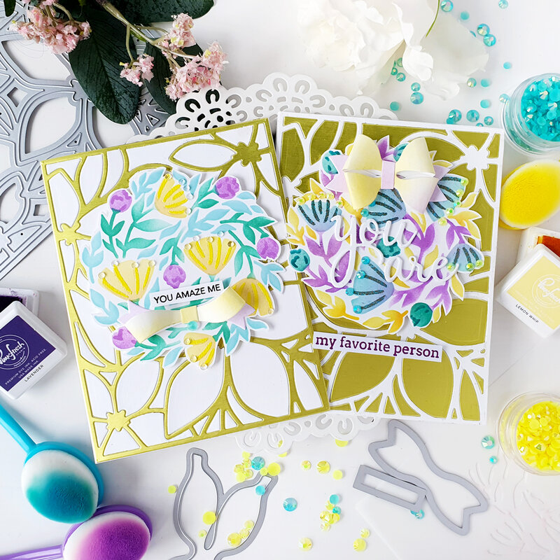 Bright blended cards