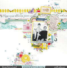 Layout created with Hip Kit Club March kits