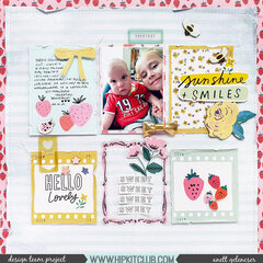 Layout design with Crate Paper Sweet Story