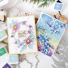 Daisy Wreath card set