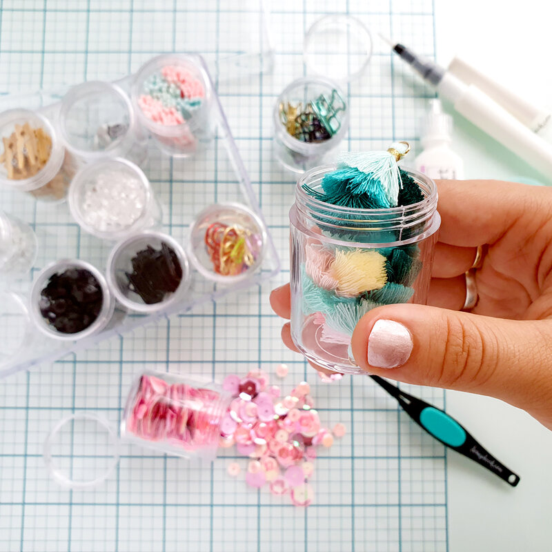 Embellishment Jars - organization