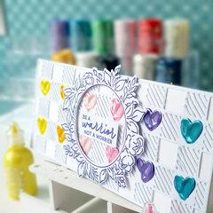 Slim Card using Pops of Color
