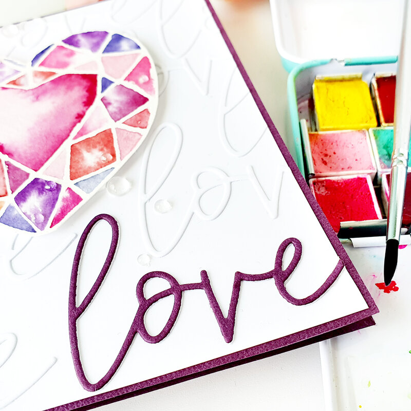 Painted Valentines Card