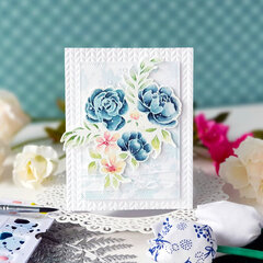 Watercolor painted card