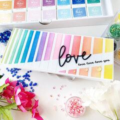 Valentines Rainbow Card