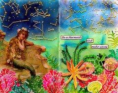 Be a Mermaid Mixed Media Art Journal