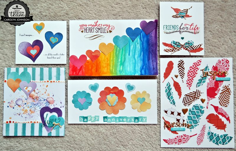 Hearts and Feathers Cards