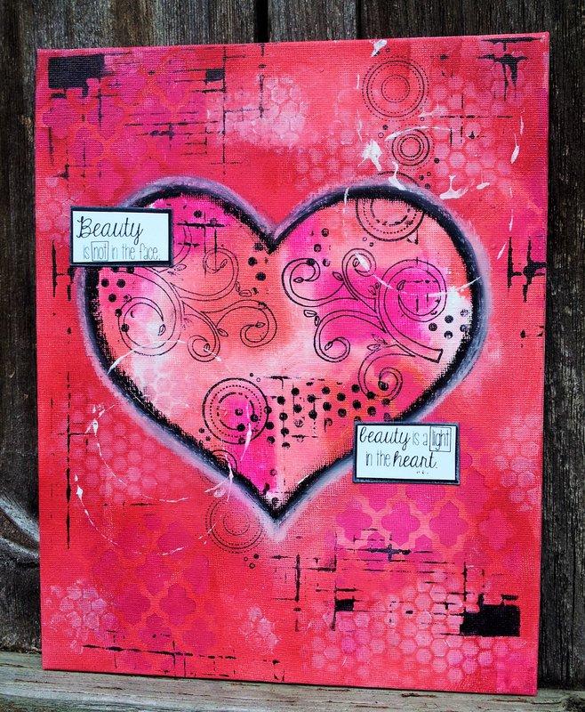 Mixed Media Heart Art