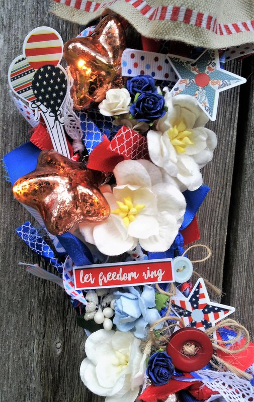 Americana Ribbon Wreath