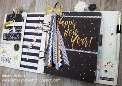 Happy New Year Planner Page and Ribbon Tassel
