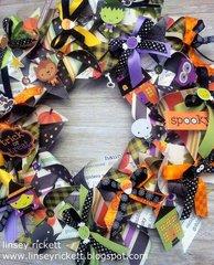 Halloween Pinwheel Wreath