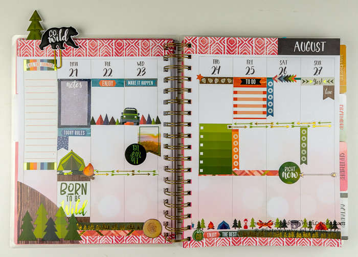 Camping Planner Spread