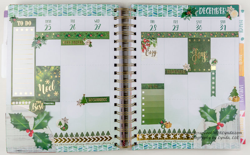 Christmas Before the Pen Planner Spreads