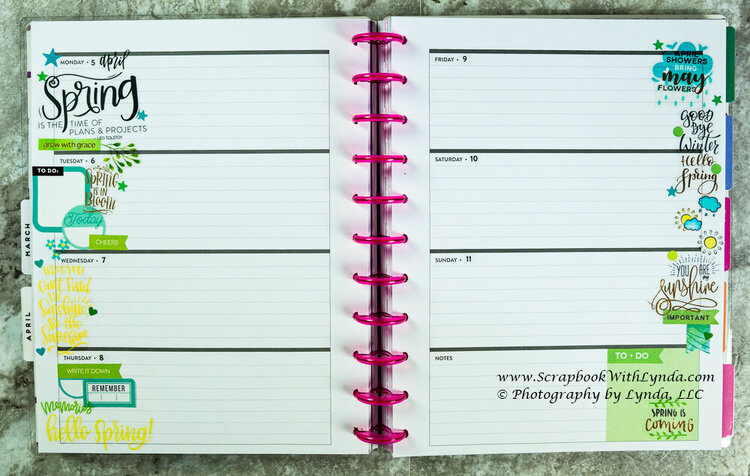 Spring Planner Before the Pen Spread