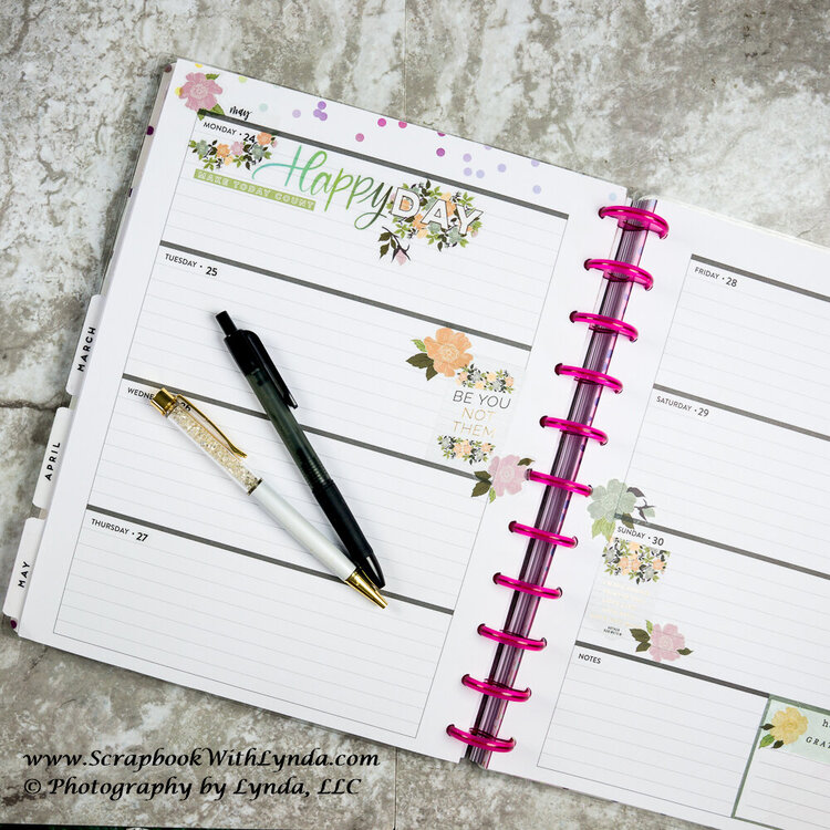 Happy Flower Planner Spread