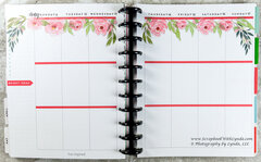 Flower Before the Pen Planner Spread