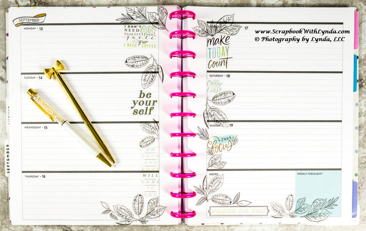 Inspirational Planner Spread
