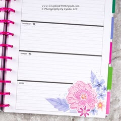 Spring Flowers Before the Pen Planner Spread