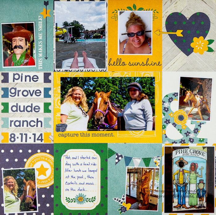 Create a faux pocket page