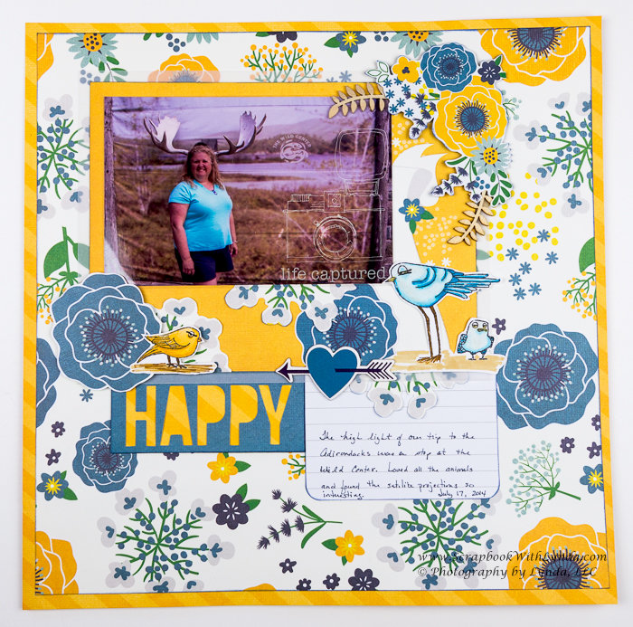 Large elements on a scrapbook layout