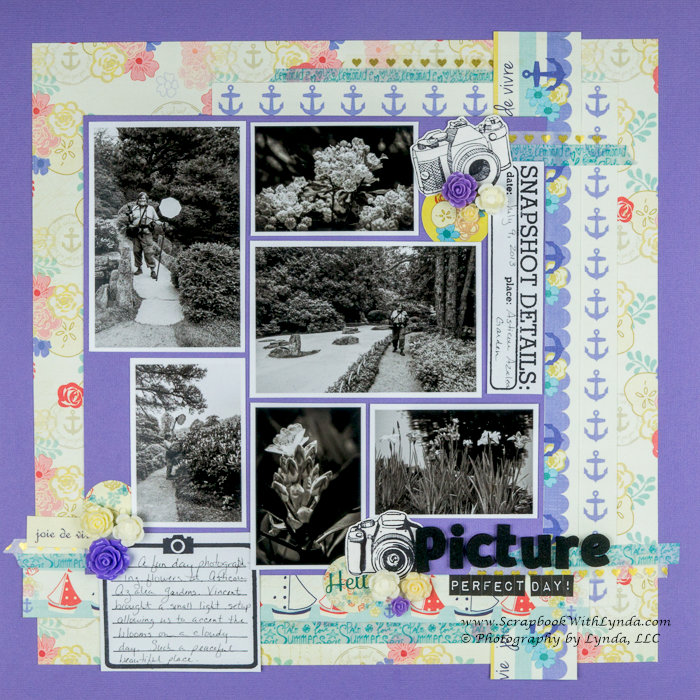 Black and White Photos on a Layout