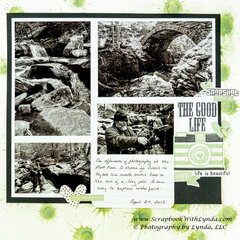 Scrapbook Layout Background Using Distress Stain and Ink