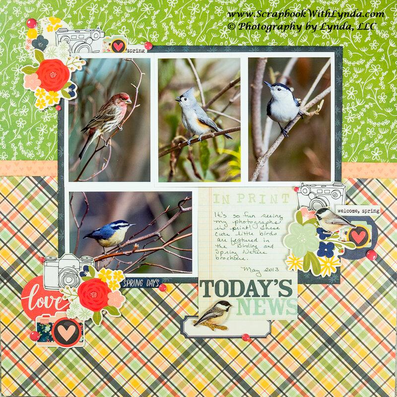 Springtime Scrapbook Layout